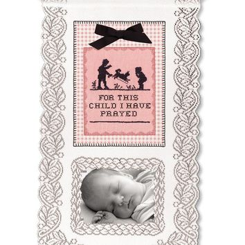 Wall Hanging - For This Child I Have Prayed (Girl)