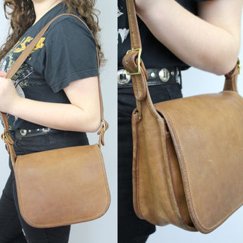 SALE - Authentic COACH - Brown Leather - Classic - Patricias Legacy - Brass Buckles - Shoulder Bag - Purse - New York City