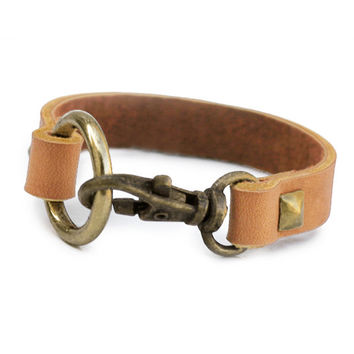 Clasp Leather Bracelet