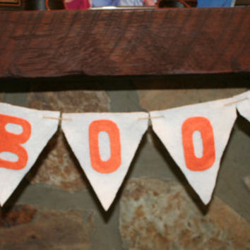 BOO Halloween banner for home or school decorations and parties