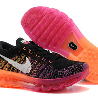 """NIKE"" new weaving rainbow sports running shoes breathable shoes"