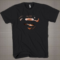 Superman Logo 3D Tshirt  Mens and Women T-Shirt Available Color Black And White