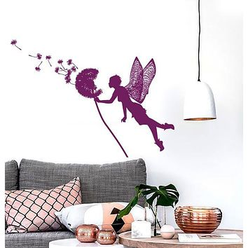 Large Vinyl Decal Magical Story Little Fairy Dandelion Seeds Wall Sticker (n590)