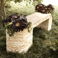 Stone Planter Bench - Horchow