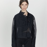 Shifted Seam Box Nylon Jacket by Phoebe English- La Garçonne