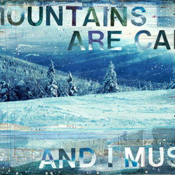 Mountains John Muir printout