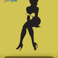 Vinyl Wall Decal Sticker Sexy Girl Sitting #613