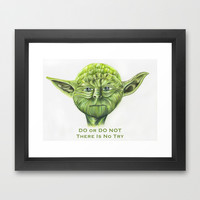 Yoda - Try Framed Art Print by Susaleena