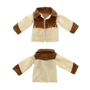 "Doll Clothes Fits American Girl 18"" Inch Outfit Jacket Cowgirl Brown"