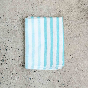 Yoshii Linen Blend Sea Border Washcloth