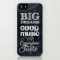 *** BIG DREAMS *** iPhone Case by M✿nika  Strigel | Society6 for iphone 5 + 4 + 4S + 3G + 3 GS + ipod touch + pillow + ipad + tshirt