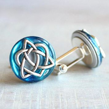 Celtic knot cufflinks - additional colors available