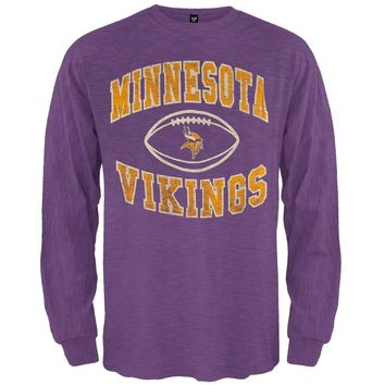 Minnesota Vikings - Logo Scrum Premium Long Sleeve