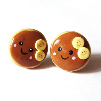 Banana Pancake Post Earrings