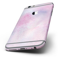 The Pink 917 Absorbed Watercolor Texture Six-Piece Skin Kit for the iPhone 6/6s or 6/6s Plus