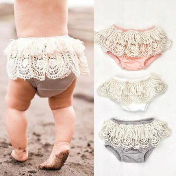 Baby Girl Toddler Ruffle Frilly Pants Nappy Cover Bloomer Tulle Pettiskirt
