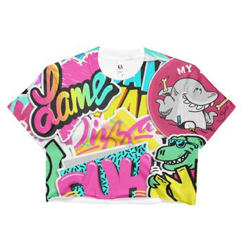 90s Dance Fanzine Crop Top