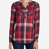 Women's Tree Line Double-cloth Tunic Shirt | Eddie Bauer