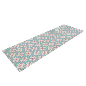 "Michelle Drew ""Vintage Christmas"" Red Blue Yoga Mat"