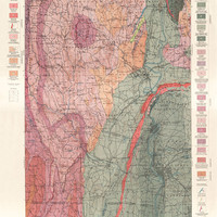 Historical Geology Sheet - Holyoke Quadrangle - 1884