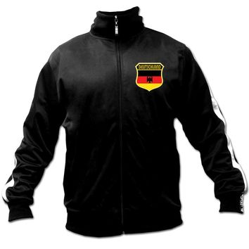 Men's Ghast Deutschland - Germany Soccer Track Jacket Black, Futbol Footall:Amazon:Clothing