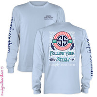 Long Sleeve Preppy Arrow - P-Blue