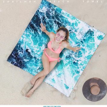 Brand Surfing Beach Towel Microfiber Travel Fitness Towel Surfboard Dive Compact  Gym waves Towel