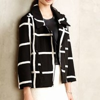 Windowpane Moto Jacket by Myne Black Motif