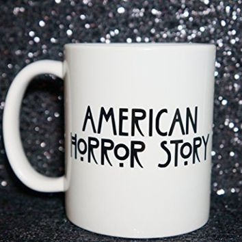 AMERICAN HORROR STORY Coffee Mug. 11 oz Coffee Mug FREAK SHOW. THE COVEN Coffee Mug. TRAVEL MUG, COFFEE CUP, TEA CUP, Tea Mug, Mug, Mugs.