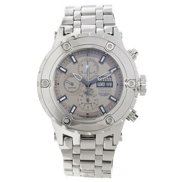 Invicta 12920 Men's Subaqua Reserve Grey Dial Steel Bracelet Automatic Chronograph Dive Watch