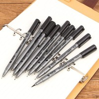 DCCKL72 Art marker pen different tip sizes Black pigment liner Water based for drawing handwriting supplie Stationery