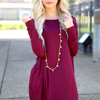Piko Dress - Dark Maroon