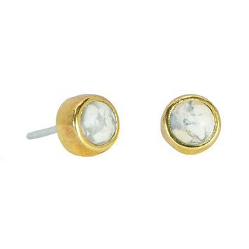 Boho Howlite Stud Earrings