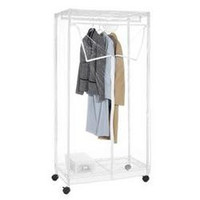 "Supreme Clothes Closet 36"",Whitmor Supreme Clothes Closet 36"" - Dimensions: 19"" x 36.75"" x 70.25"" - Heavy duty epoxy coated steel frame and shelves.  Clear cover with easy access 3-way zipper.  Wheels included."""