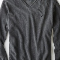 AEO 's Pigment Dyed Wool V-neck Sweater