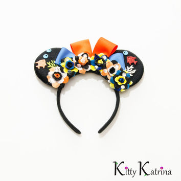 Finding Nemo Mouse Ears Headband, Finding Nemo Birthday, Finding Nemo Party, Disney Ears, Disney Birthday Ears, Disneyland, Disney World