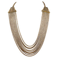 One Kings Lane - Style Guide - Art Deco Brass Bead Necklace