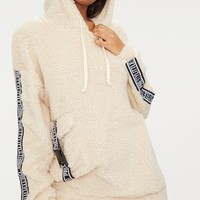 Cream PrettyLittleThing Borg Sweater
