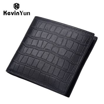 Designer Men Wallets Genuine Leather Male Short Purse Card Holder