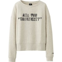 WOMEN SPRZ NY LONG SLEEVE SWEAT CROPPED SHIRT (ANDY WARHOL) | UNIQLO