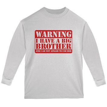 Warning Big Brother Youth Long Sleeve T Shirt