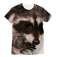 Taxidermy Raccoon Sublimation T-Shirt