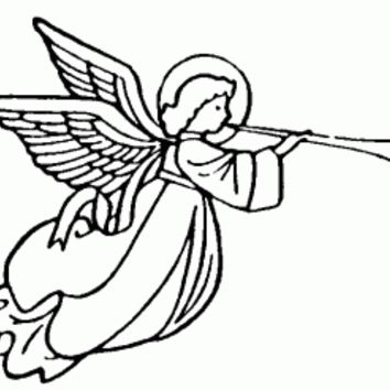 Flying Trumpeting Angel Left