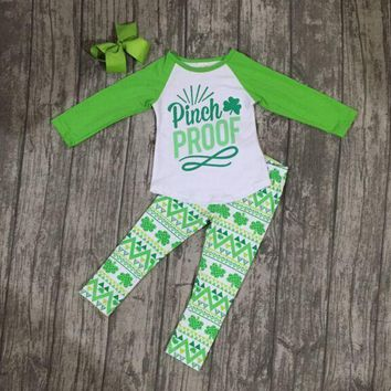 "Girls St. Patrick's Day ""Pinch Proof"" Aztec Outfit"