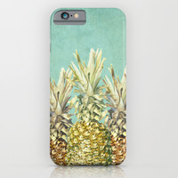 Pineapple Paradise iPhone & iPod Case by Lisa Argyropoulos