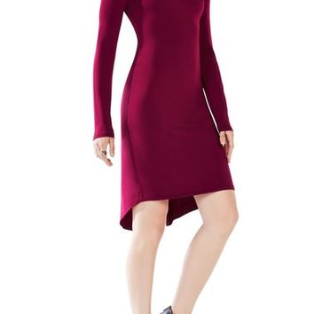BCBGMAXAZRIA 'Celia' Asymmetrical Back Jersey Sheath Dress | Nordstrom