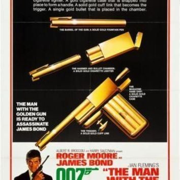 Man With The Golden Gun movie poster Sign 8in x 12in