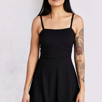 Silence + Noise Square-Neck Fit + Flare Mini Dress - Urban Outfitters