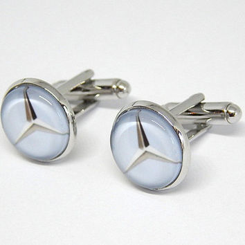 Mercedes benz logo cufflinks, Mercedes benz jewelry, Car Cufflinks, Mercedes benz emblem, Mercedes benz simbol, wedding  groomsmen cuff link