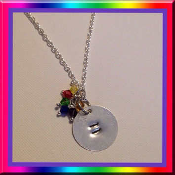 Equality sign metal stamped chain necklace